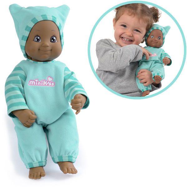 Smoby Minikiss Puppe mit Funktion (Dunkelhäutig) Babypuppe Funktionspuppe NEU