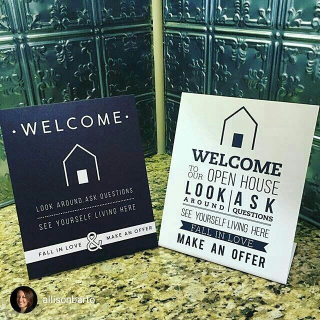 We're a little late for the open house, but we love this pic!  Repost from @allisonbarto New Open House signs from All Things Real Estate. Visit us this Sunday, 4/10 from 1-3 at 1310 Hall Road in West Chester. #openhouse