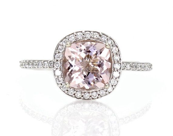 14K Asscher Morganite Wedding Set Morganite by RareEarth on  I would buy this for myself if I had the money!