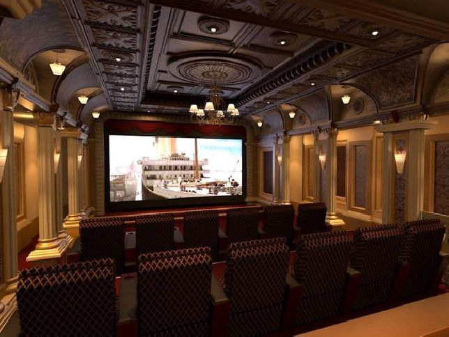 Beautiful luxury theme  Home Theaters & Media Rooms ...