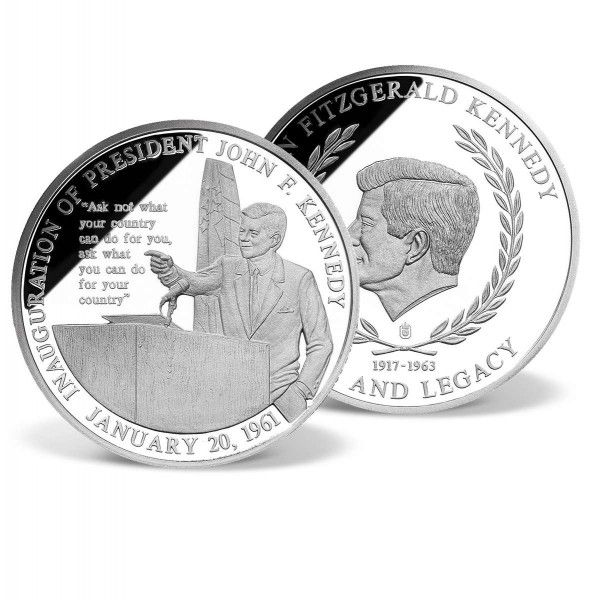 John F Kennedy Inaugural Speech Commemorative Coin With Images