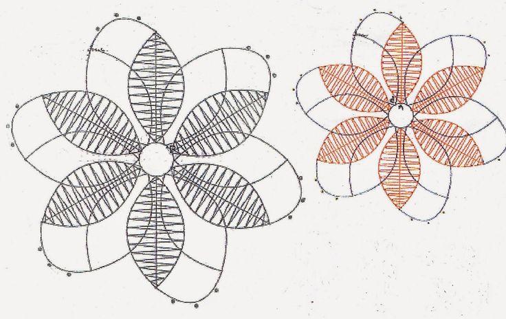 Aquí os dejamos el patrón de una flor para que podáis lucirla