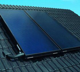 Vitosol 100-F - płaskie kolektory słoneczne na nachylonym dachu