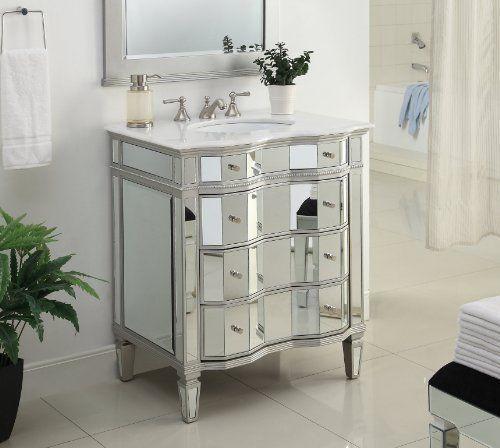 "30"" Mirrored w/silver trim Bathroom Sink Vanity Cabinet - Ashley Model # BWV-025/30 Chans Furniture http://www.amazon.com/dp/B0026TA7PQ/ref=cm_sw_r_pi_dp_Rd.Owb0EPGVSW"