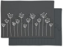 Poppy Fields Placemat - Charcoal