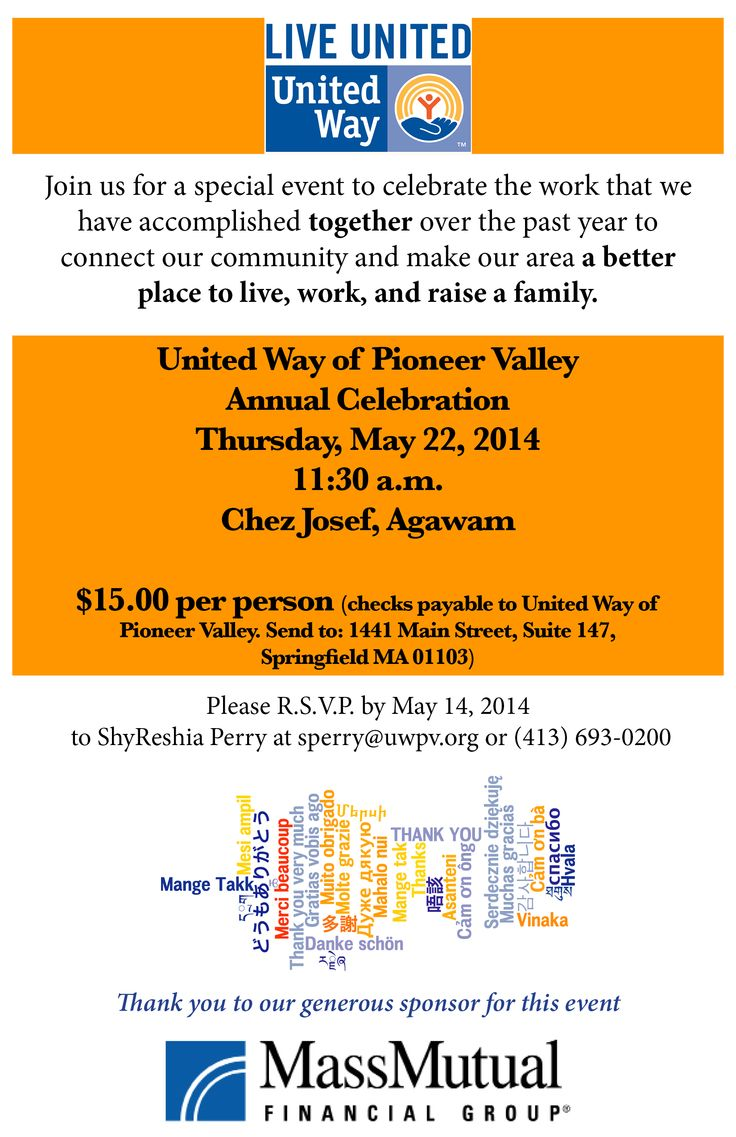 """""""Connecting The Community"""" was the theme of our 2014 Annual Celebration on 5/22/2014! http://www.uwpv.org #uwpv #ac2014"""
