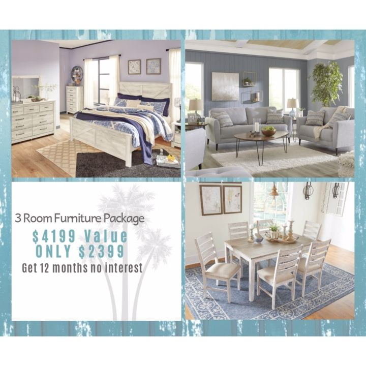 3 Room Furniture Package You Get A Bedroom Living Room Dining Room 21 Pieces Of Furniture 4199 Value For Furniture Packages Bed Furniture Furniture
