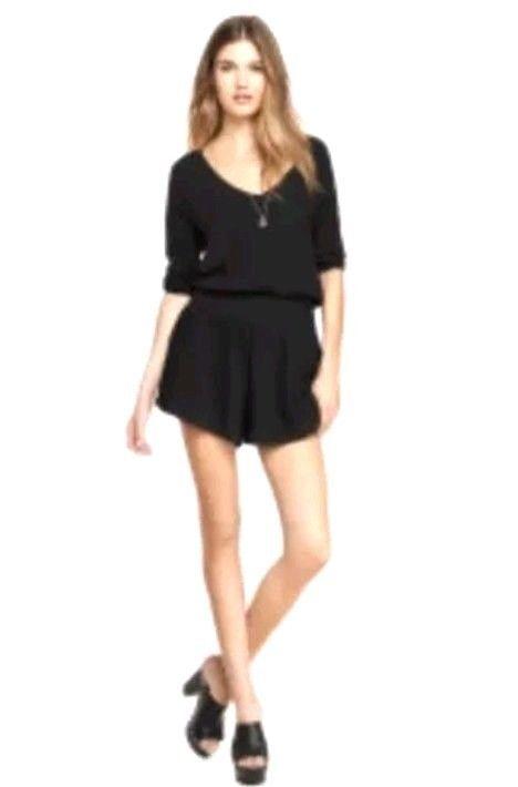 6516db4c417a Express Womens Romper Size XS Black Shorts Jumpsuit 3 4 Sleeve  Express   Romper