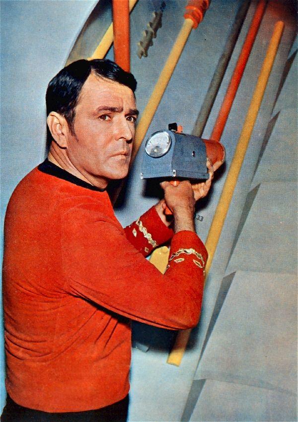 "Montgomery ""Scotty"" Scott (James Doohan) Star Trek #startrek #starfleet #scifi #sciencefiction #scotty #tos"