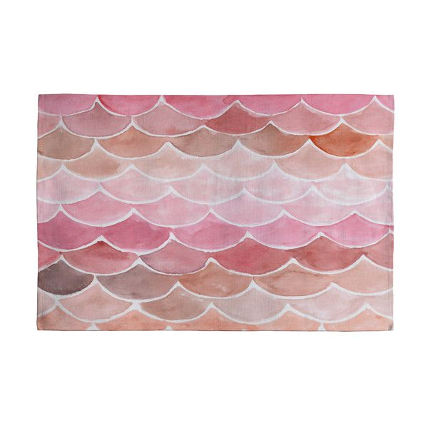DENY Designs Wonder Forest Pink Mermaid Scales Bath Mat ($37) ❤ Liked On  Polyvore