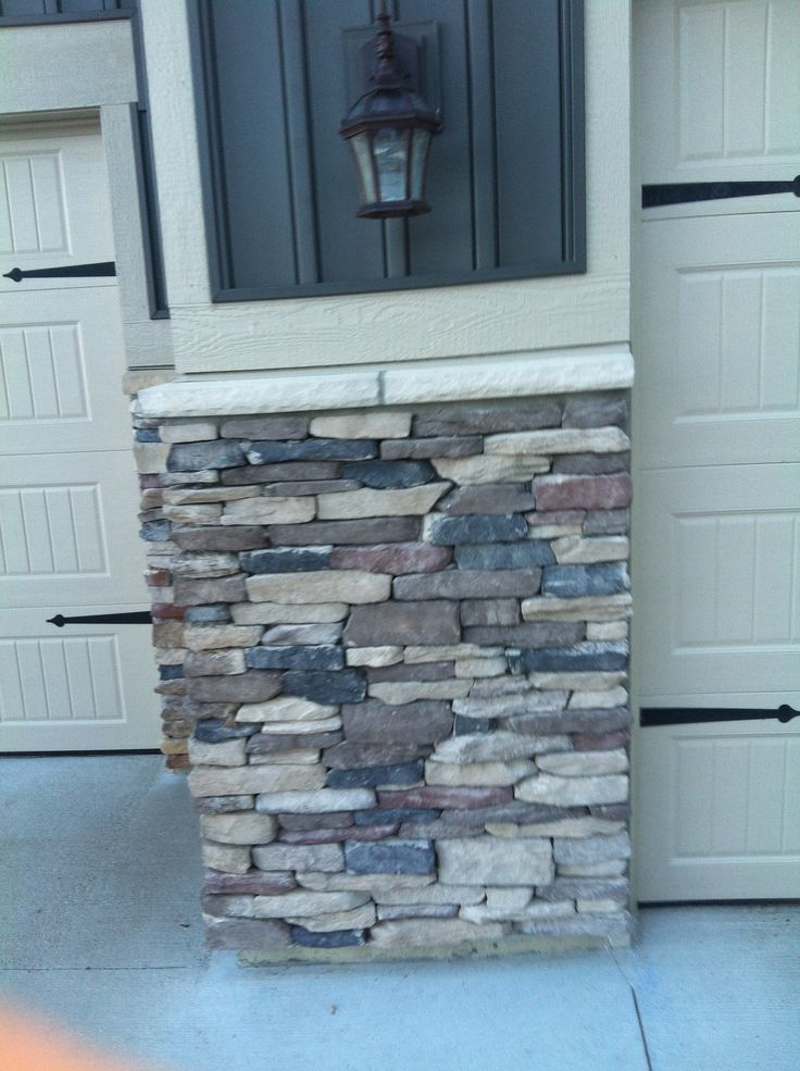 9 best images about cover up ugly foundation on pinterest faux stone columns and cinder blocks