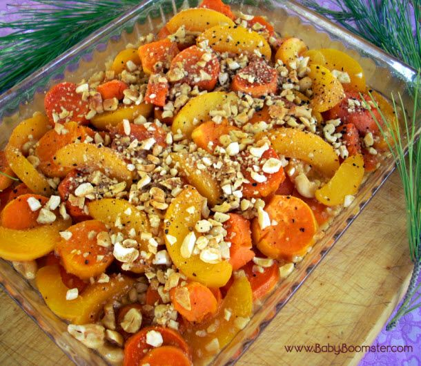 If you're looking for a different take on cooking Thanksgiving yams, try this Yam and Cashew Peach Bake. It will be a hit at your next holiday get together.