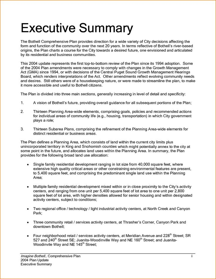 executive summary example incident report template sample - executive summary of a report example