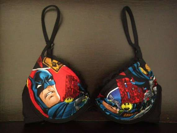 Comic book bra's, yes Wonder Woman is available.