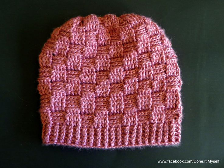 How To Make A Basket Weave Hat : Ideas about basket weave crochet on