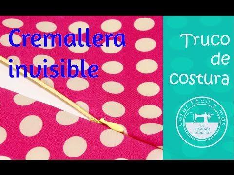 Cómo coser cremalleras o cierres invisibles, muy fácil! - YouTube