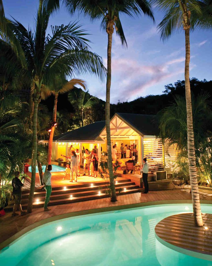 See The Late Night Pool Party In Our A Casual Beachfront Destination Wedding St