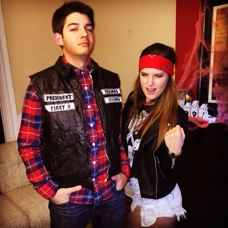 Sons of Anarchy Halloween couples costume! #diy #biker #costume
