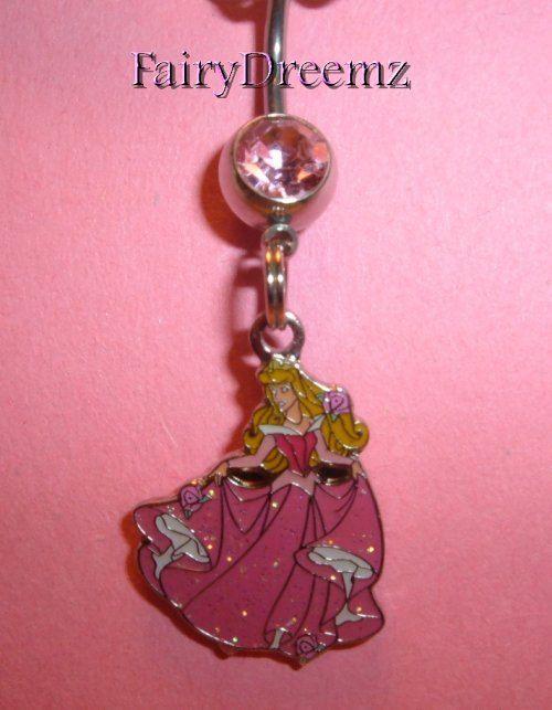 Sleeping Beauty AURORA Princess Disney Belly Navel by FairyDreemz, $12.00