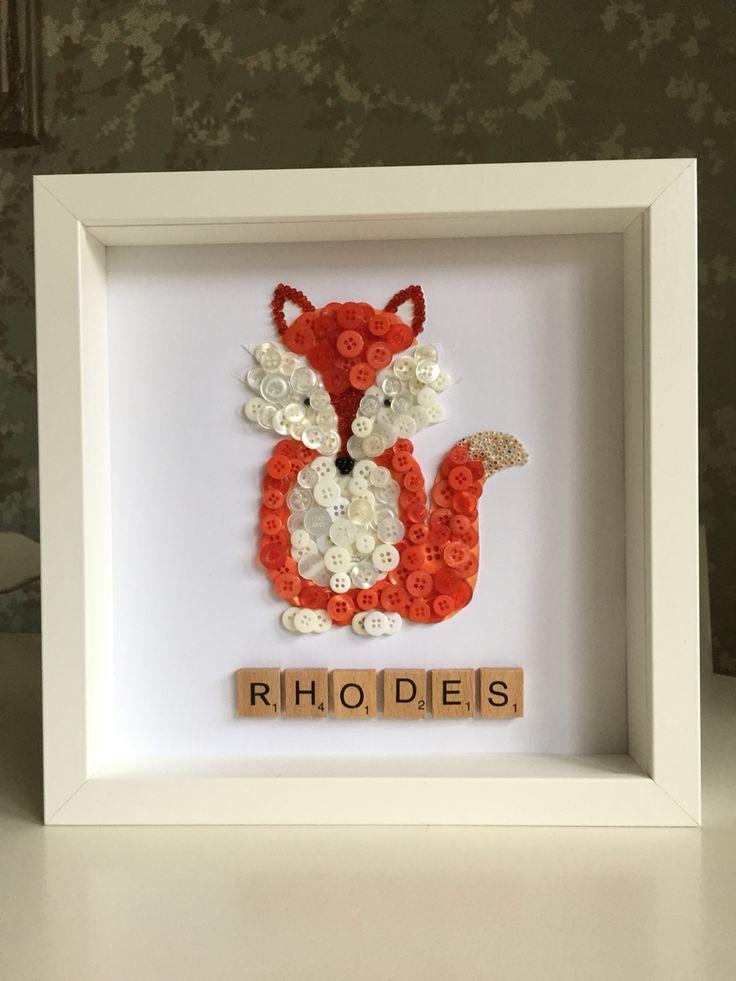 Fox button art