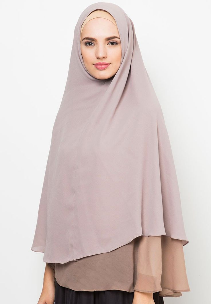 Layer Hijab design by Hijab Icon, hijab with layering style, made of chiffon cerutti fabric with good quality. The silky, light and soft texture make this hijab is a must. Pair this hijab with an outer or a cullote pants or a long dress.    http://www.zocko.com/z/JHwxi