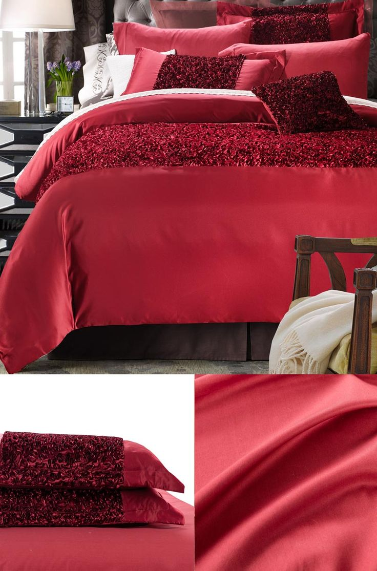 doona cover set red high end bedding twin full queen luxury silk bedding set