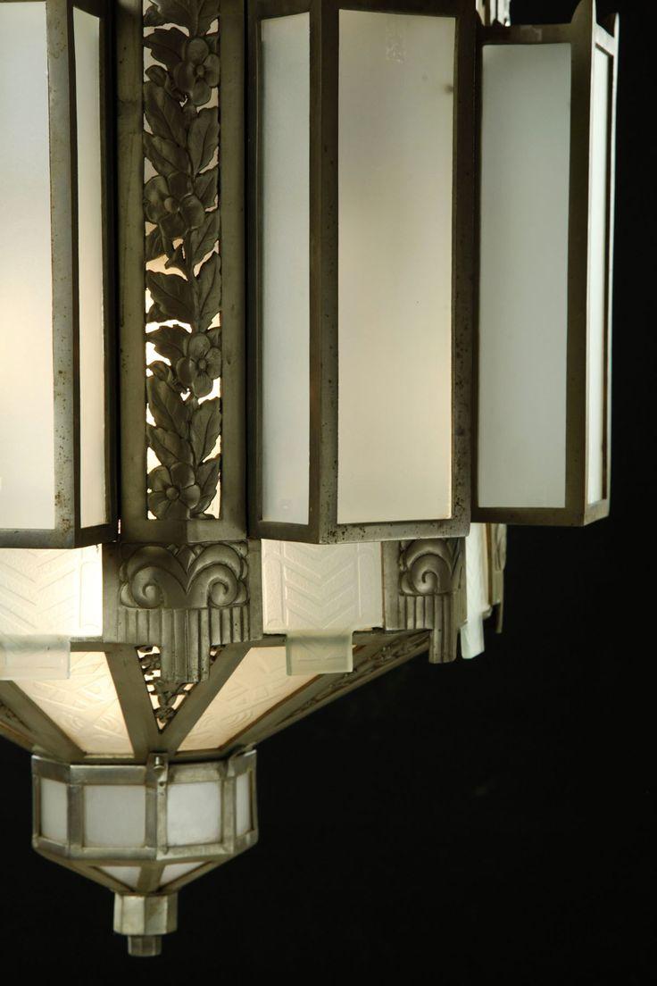 art d co luminaire lustre ann es 30 art d co objets d coratifs pinterest deco. Black Bedroom Furniture Sets. Home Design Ideas