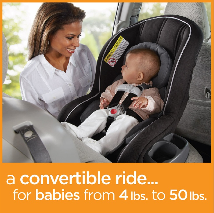 Ready Ride™ from Graco helps keep rear-facing infants (4 – 40 lbs.) and forward-facing toddlers (20 – 50 lbs.) safe. Reversible & removable head & body inserts gives mom TWO fashion options!