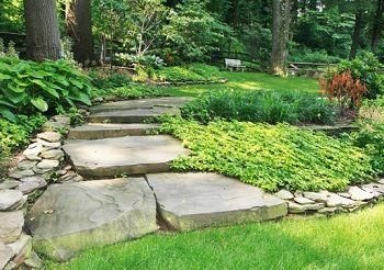 Awsome stone walkway!