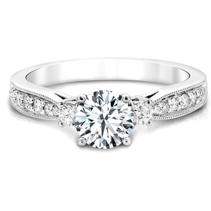 Canadian Diamond Engagement Ring In White Gold
