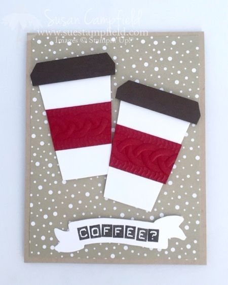 Coffee Cup Card With Home Sweet Home Thinlits Dies