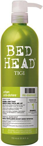 TIGI Bed Head Urban Antidotes ReEnergize Shampoo 2536 oz Pack of 3 >>> Be sure to check out this awesome product.(This is an Amazon affiliate link and I receive a commission for the sales)