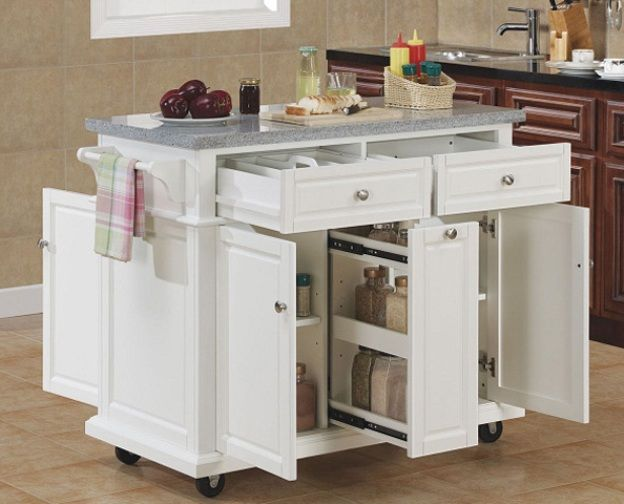 Small Kitchen With Island best 25+ moveable kitchen island ideas on pinterest | kitchen