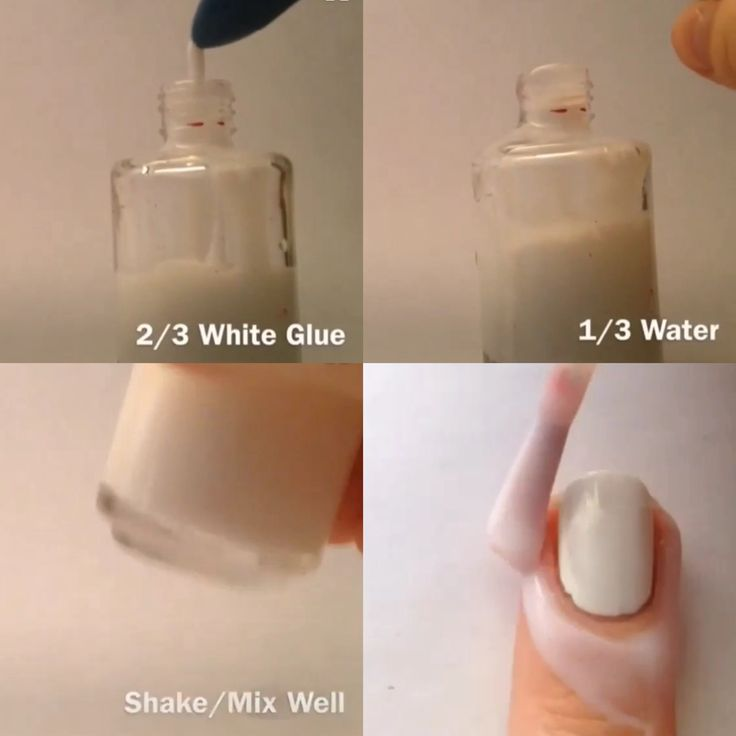 DIY peel off base-coat! Also use it under glitter polish for easy removal.