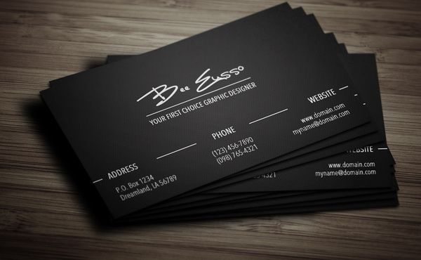 outstanding business cards