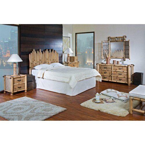 Hospitality Rattan Havana 4 Piece Bedroom Set   Natural Bamboo $1624.00