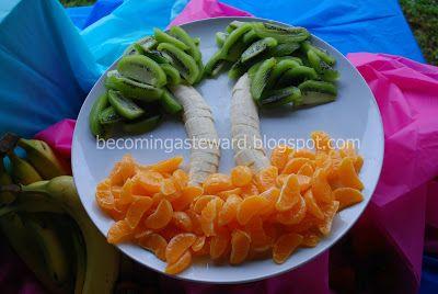 Becoming a Steward: Luau Fruit Display
