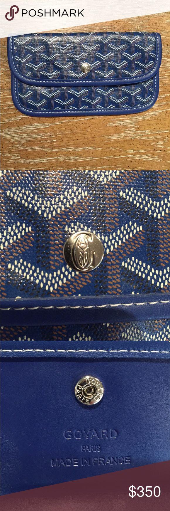 Goyard wallet/pouch dark blue great condition Goyard St. Louis wallet/pouch. Not sure about authenticity. Goyard Bags Clutches & Wristlets