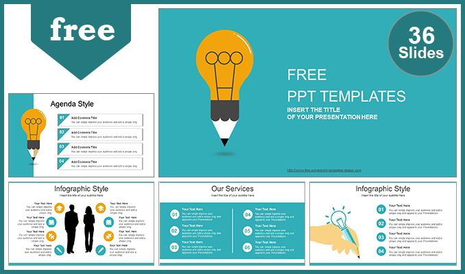 Free Good Idea Theme Powerpoint Template Ideas Are More Valuable Than Investments Free Powerpoint Presentations Powerpoint Template Free Powerpoint Templates