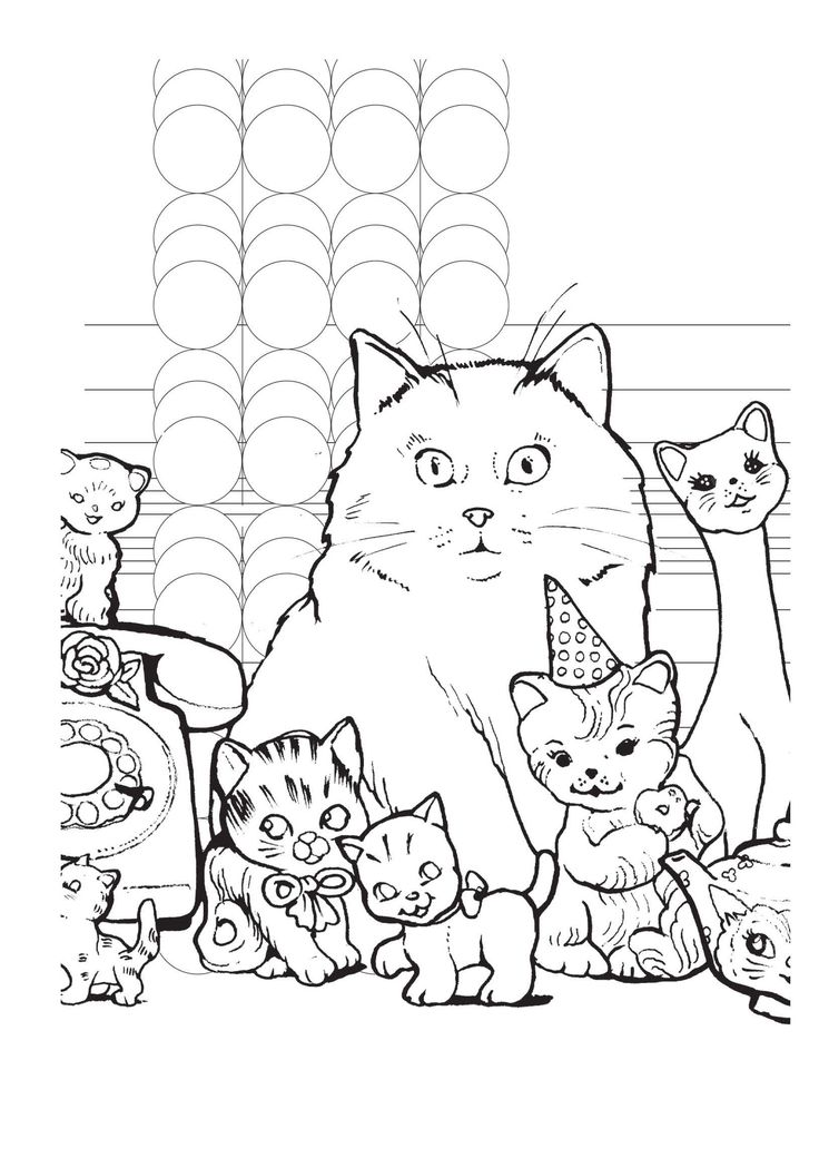 Chat th rapie 100 coloriages anti stress - Coloriage chat ...