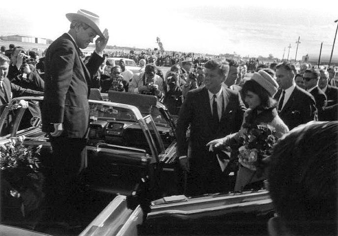 John Connally at Love Field, Dallas, as Jackie and John Kennedy Enter Limousine