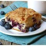 Blueberry & White Chocolate Cheesecake Bars
