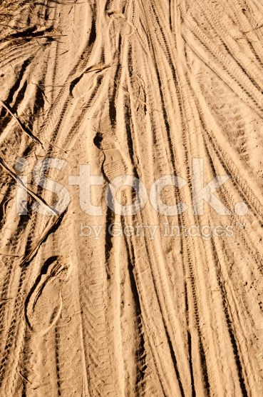 Tread Pattern on the Sand royalty-free stock photo