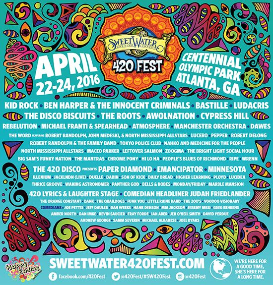 Win 2 Tickets to the SweetWater 420 Fest in Atlanta, GA