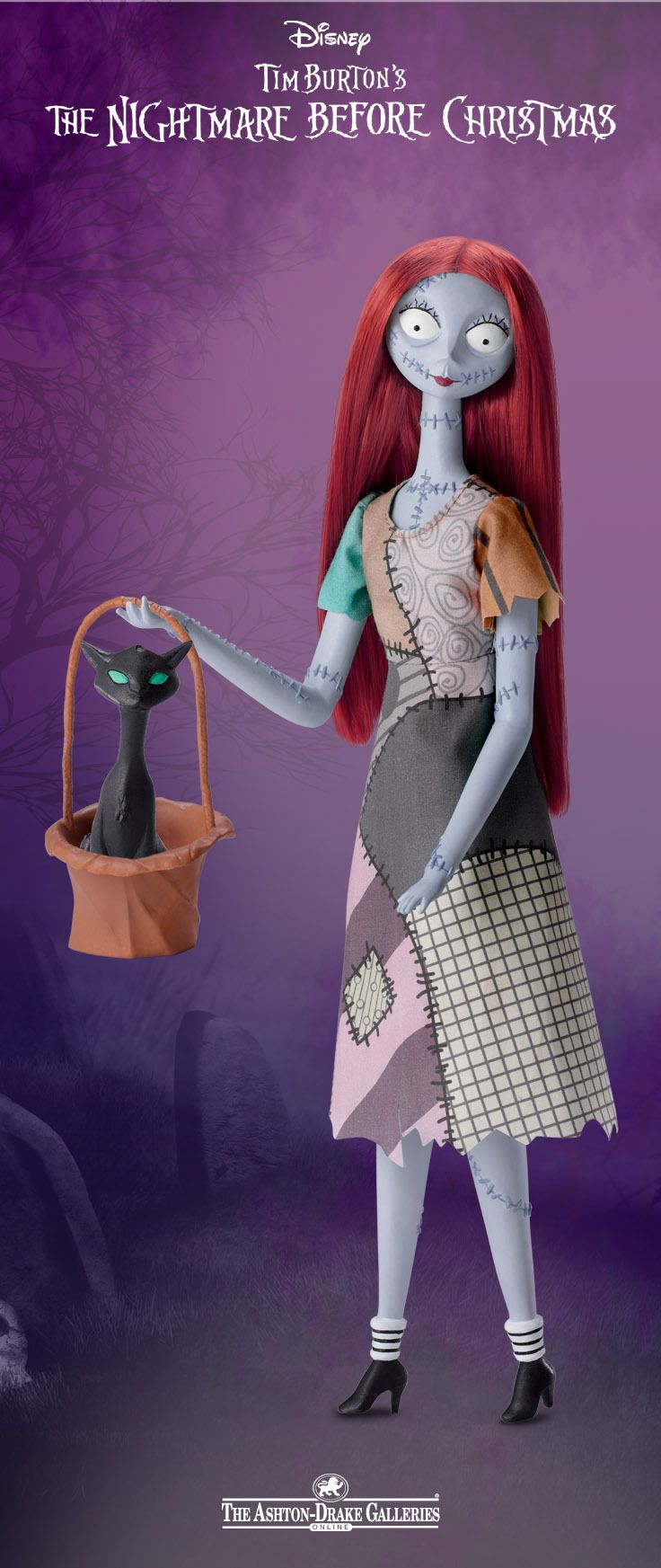 "Sing along to ""Sally's Song"" with this Nightmare Before Christmas Singing Sally Figurine for a spook-tacular time!"