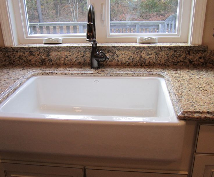 Sill Granite Sink : ... sill Farmer?s under-mount sink with granite splash & window sill