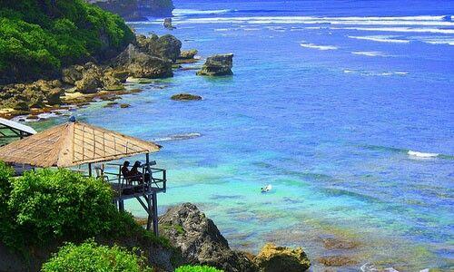 Blue Point Beach in Bali Island
