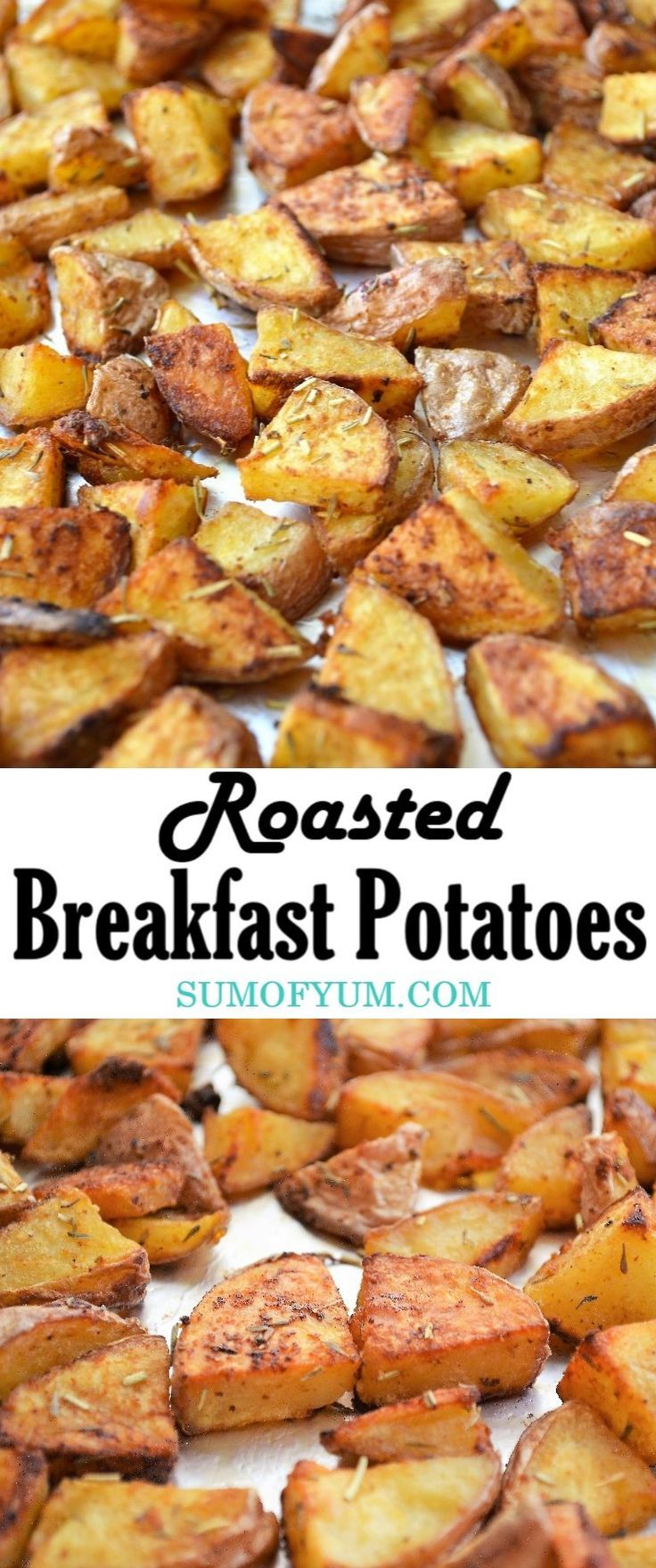 Oven roasted breakfast potatoes, or ��home fries��, are so easy to make and they are healthier and less greasy than making them in the skillet. These roasted red potatoes are perfectly seasoned, crispy and full of flavor! | Breakfast | Brunch | Side Dish |