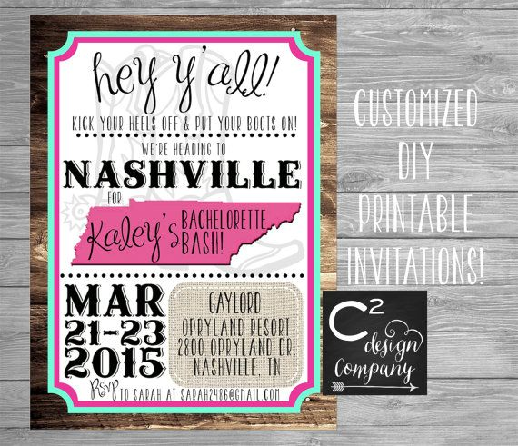 Mint & Pink Nashville Bachelorette Party by cSquaredDesignCo