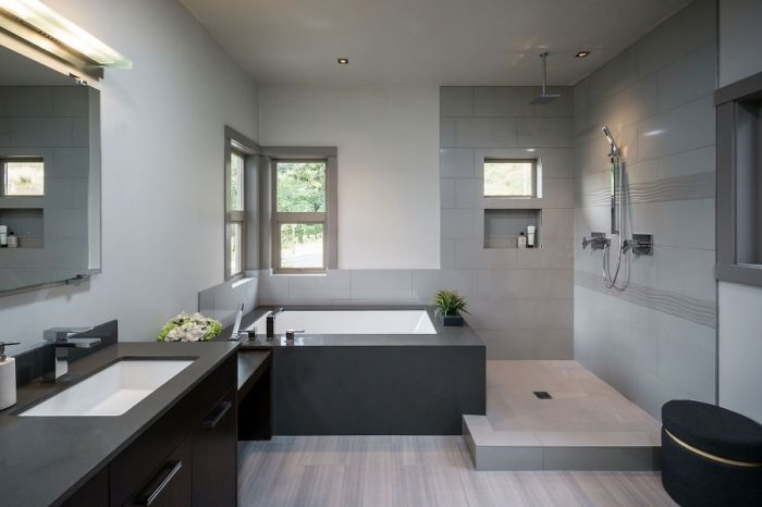 super ▷ 89 Badgestaltung in Grau und Weiß
